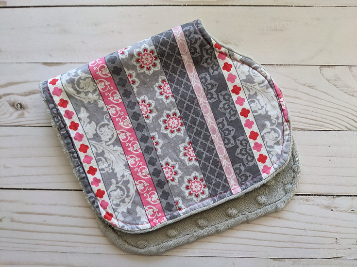 Burp Cloths - A Mixed Bag {dot minky}