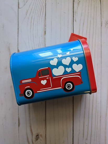 Red Truck Valentine's Day Mailbox