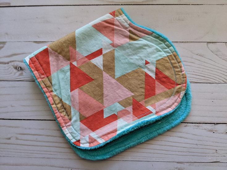 Burp Cloths - Tripping Triangles {flat minky}