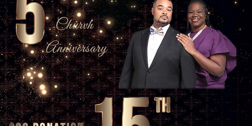 5th Church Anniversary  & 15th Pastor & Wife Anniversary Banquet