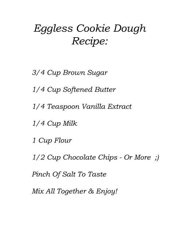 Eggless Cookie Dough!