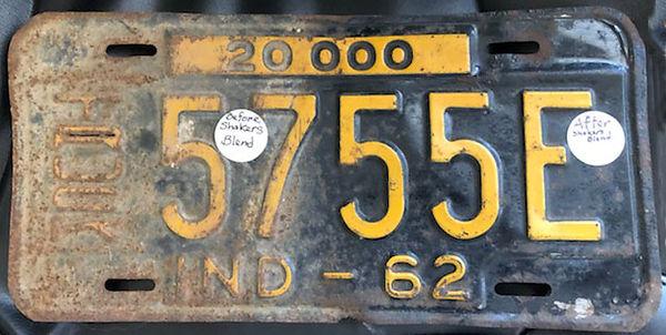 Restored License Plate