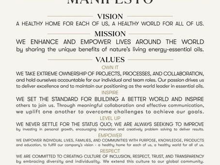 Young Living Manifesto