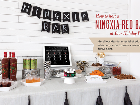How to Host NingXia Red Bar at Your Holiday Party