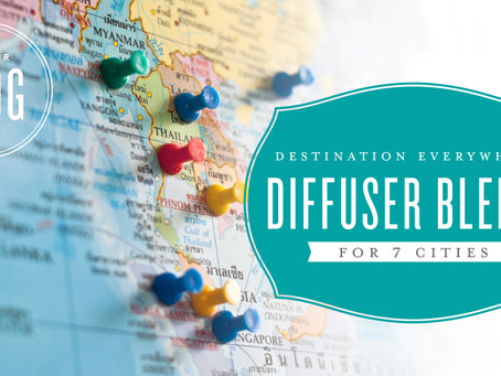 Destination Diffuser Blends for 7 Cities