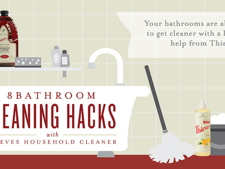 8 Bathroom Cleaning Hacks with Thieves