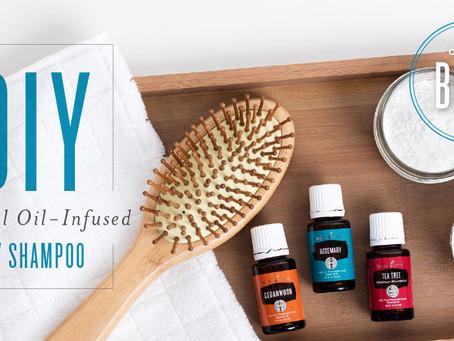 DIY Essential Oil-Infused Dry Shampoo