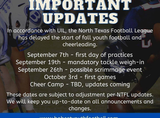 Important Season Update