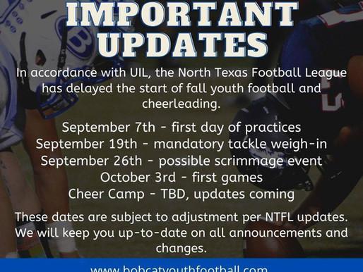 Important Season Update