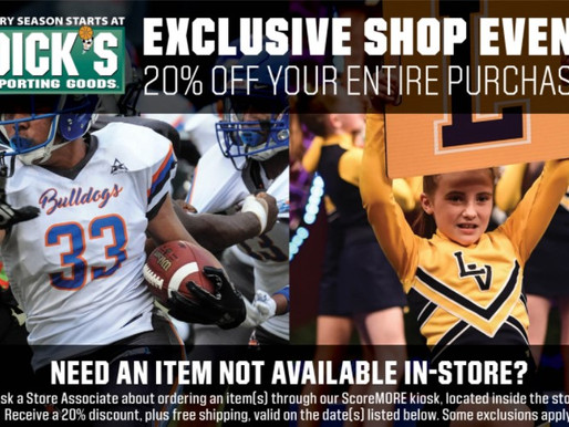 Discount Weekend at Dick's Sporting Goods