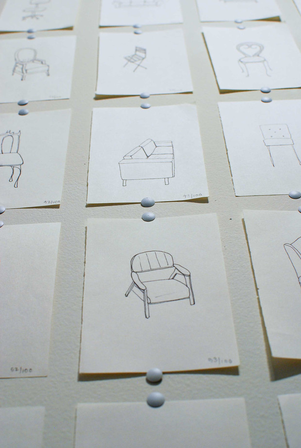 100 Chairs (detail)