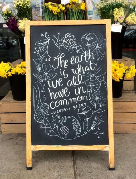 Earth Day Chalk Art