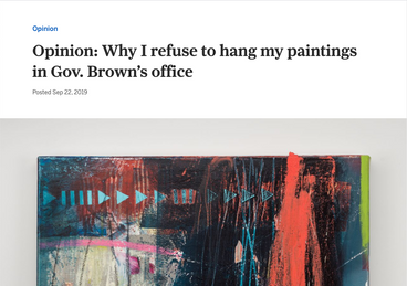 Why I refuse to hang my paintings in Gov. Brown's office