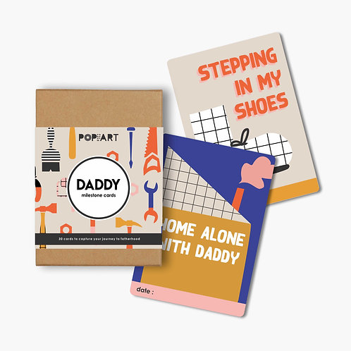 Mini Milestone Cards | Daddy (box of 30 cards)