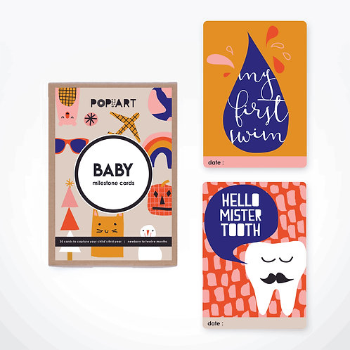 Milestone Cards | Baby (box of 30 cards)