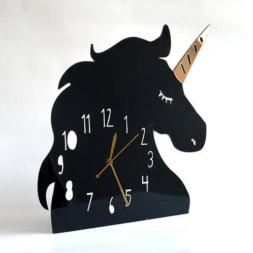Wall Clock | Unicorn Black