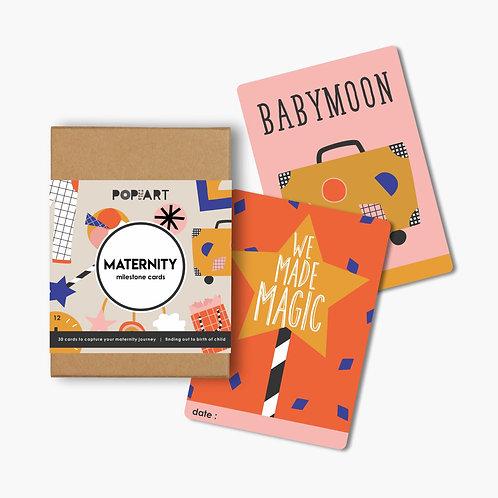 Mini Milestone Cards | Maternity (box of 30 cards)