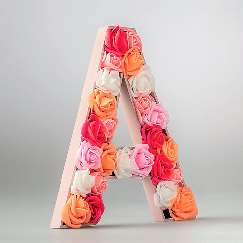 Flower Initial Pink