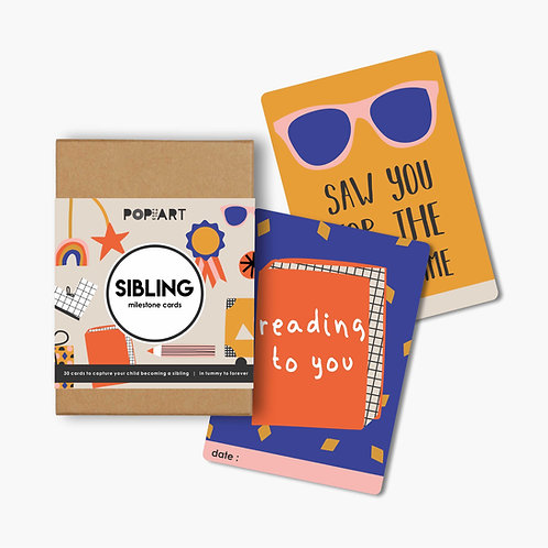 Mini Milestone Cards | Sibling (box of 30 cards)