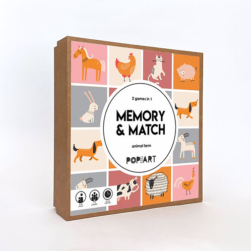 Memory & Match | Farm Animals