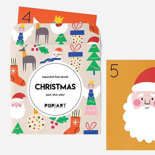 Hopscotch Floor Decals | Christmas