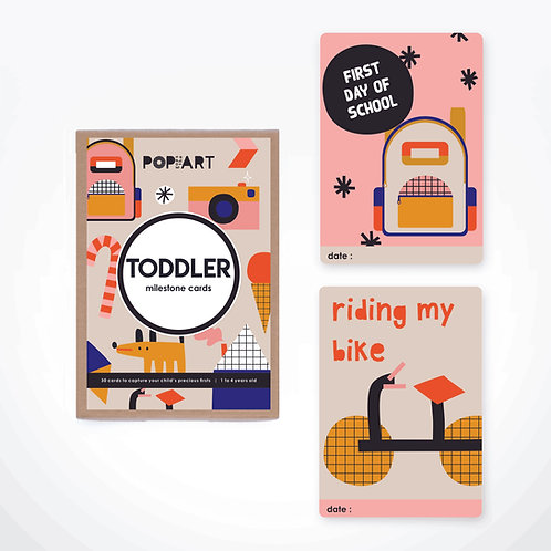 Milestone Cards | Toddler (box of 30 cards)