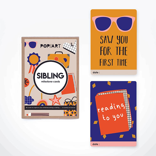 Milestone Cards | Sibling (box of 30 cards)