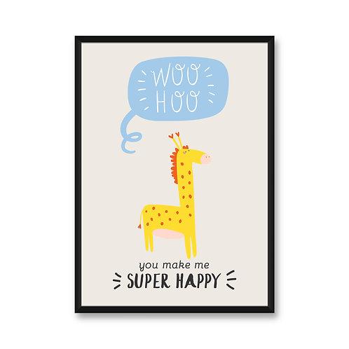 Wall Frame | Happy Giraffe