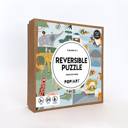 Reversible Puzzle | Land and Water