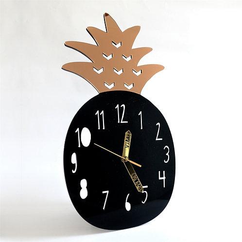 Wall Clock | Pineapple Black