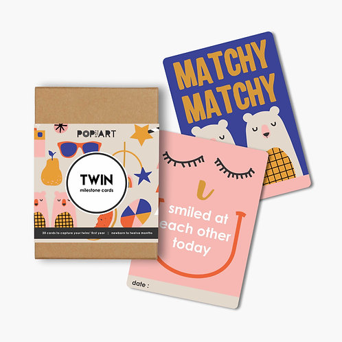 Mini Milestone Cards | Twin