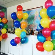 Букет из 17 разноцветный шаров