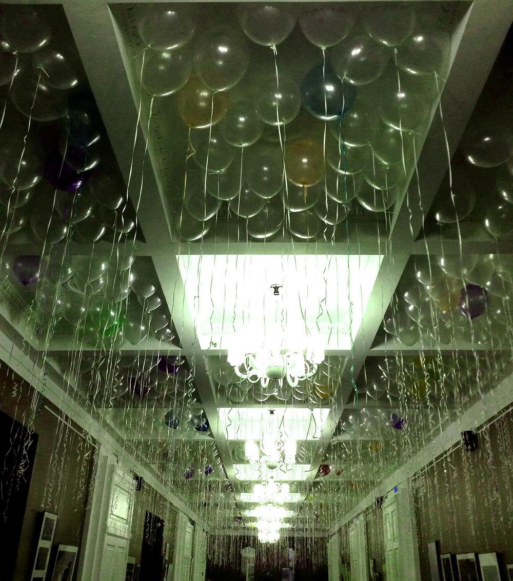 Воздушные шарики под потолок