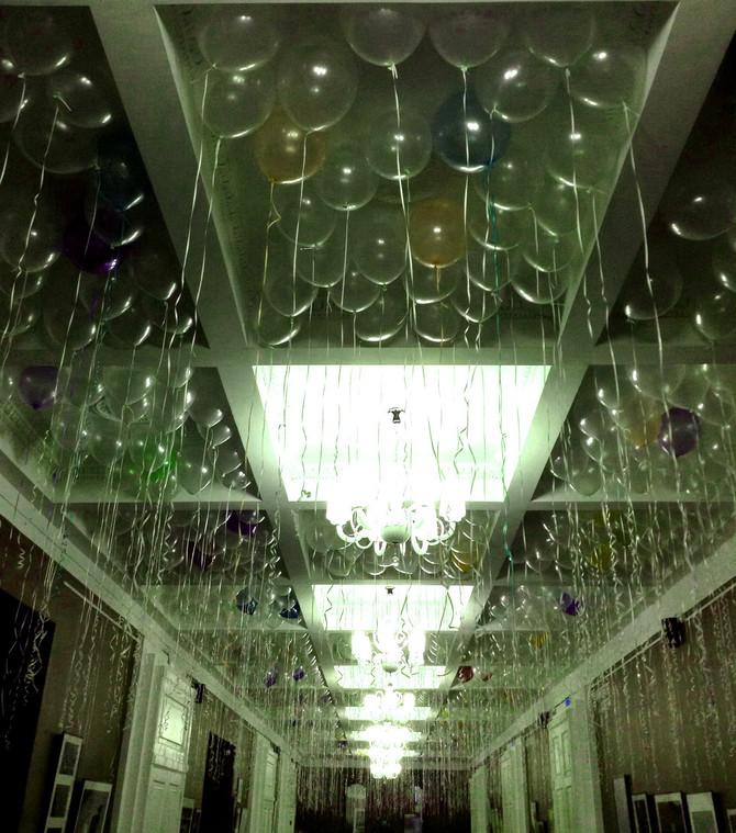 Сколько нужно шариков, чтобы полностью закрыть потолок?
