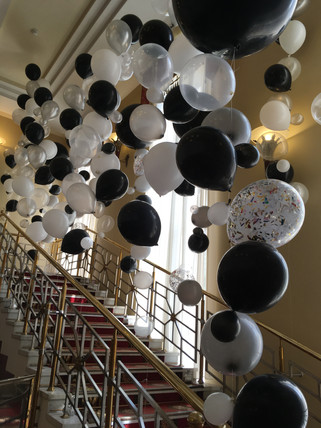 Воздушные шары на леске