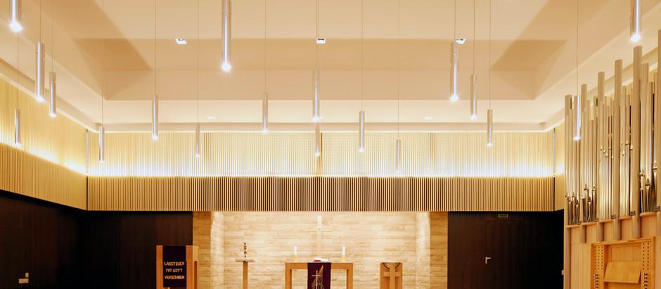 Lichtplanung Luther Melanchthon Kirche Durlach