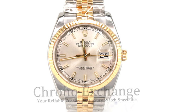 Pre Owned Rolex Datejust Men Steel Gold