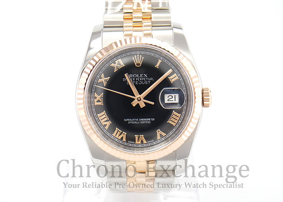 Pre Owned Rolex Datejust Steel Rose Gold 116231