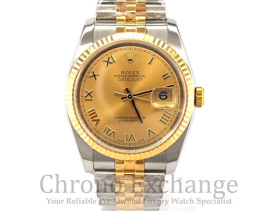Pre Owned Rolex Datejust Steel Gold 116233