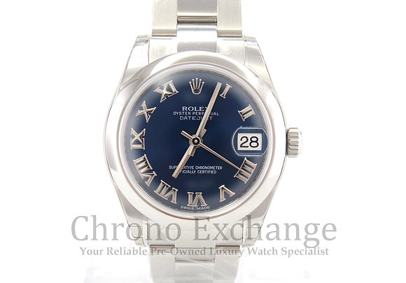 Pre Owned Rolex Datejust Mid Size - Blue Dial
