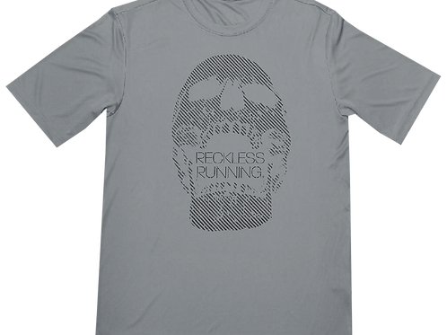 Gray Skull Performance Tee
