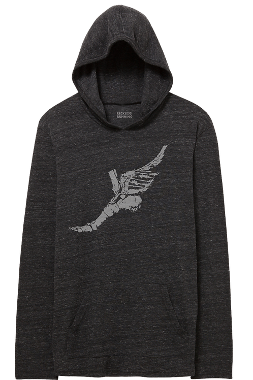 Men's Triblend Lightweight Pullover Hoodie Heather Grey, Charcoal, Bla