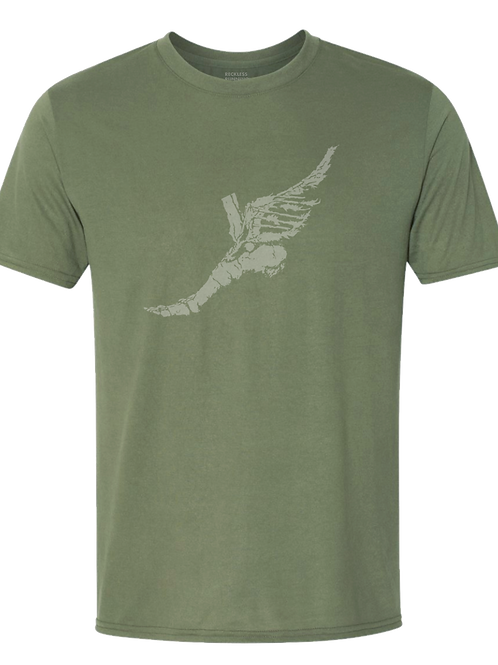 Men's Triblend Tee in Army Green