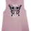 Thumbnail: 'PAIN IS A GIFT' Butterfly Skull Mauve Flowy Muscle Tank