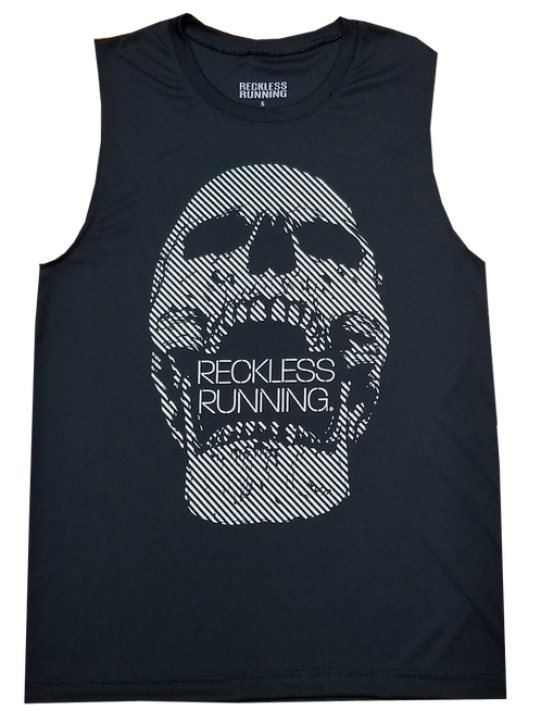 Men's Black Graphic Performance Muscle Tank