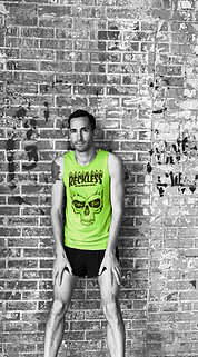 MEN'S 'FLAMING SKULL' GRAPHIC SINGLET