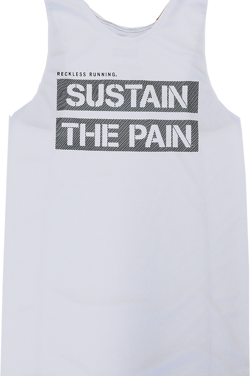 SUSTAIN THE PAIN White Performance Singlet