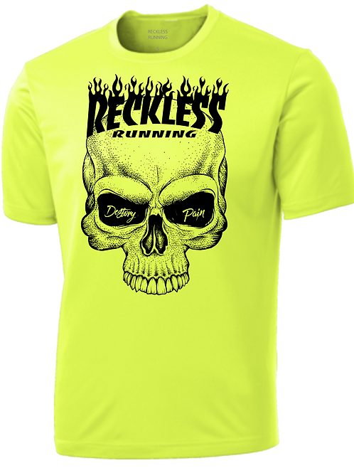 Men's FLAMING SKULL Performance Tee