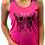 Thumbnail: Women's PAIN IS A GIFT Butterfly Skull Running Tank