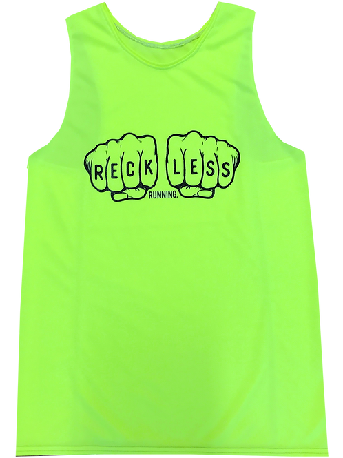 KNUCKLES Neon Yellow Performance Singlet